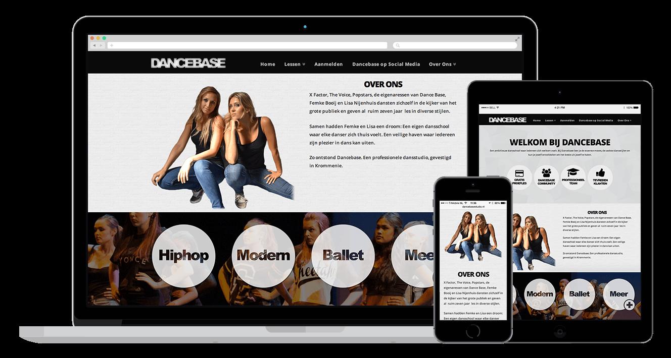 Dancebase WordPress Webdesign - website maken