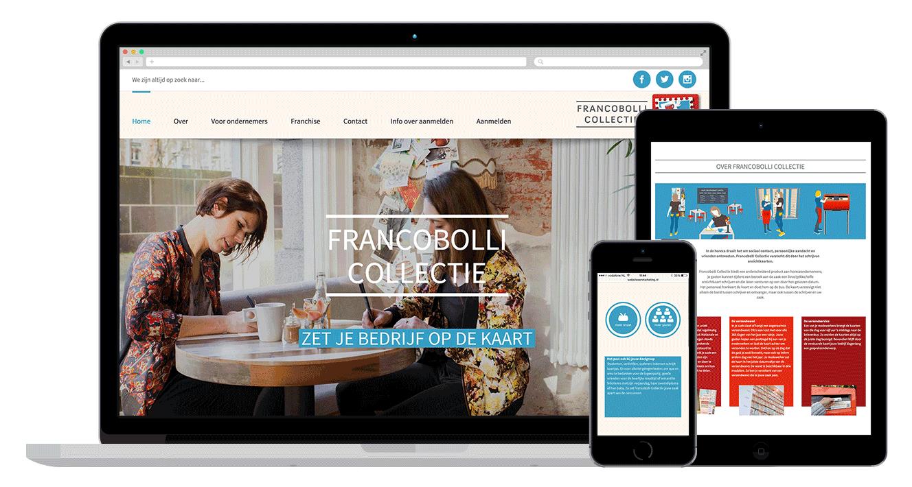 onepage modern website design alkmaar amsterdam