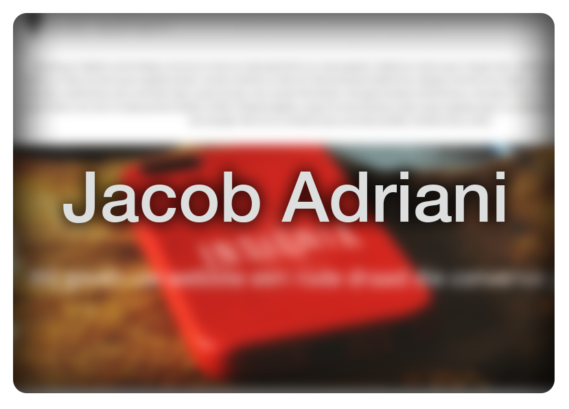 Jacob Adriani