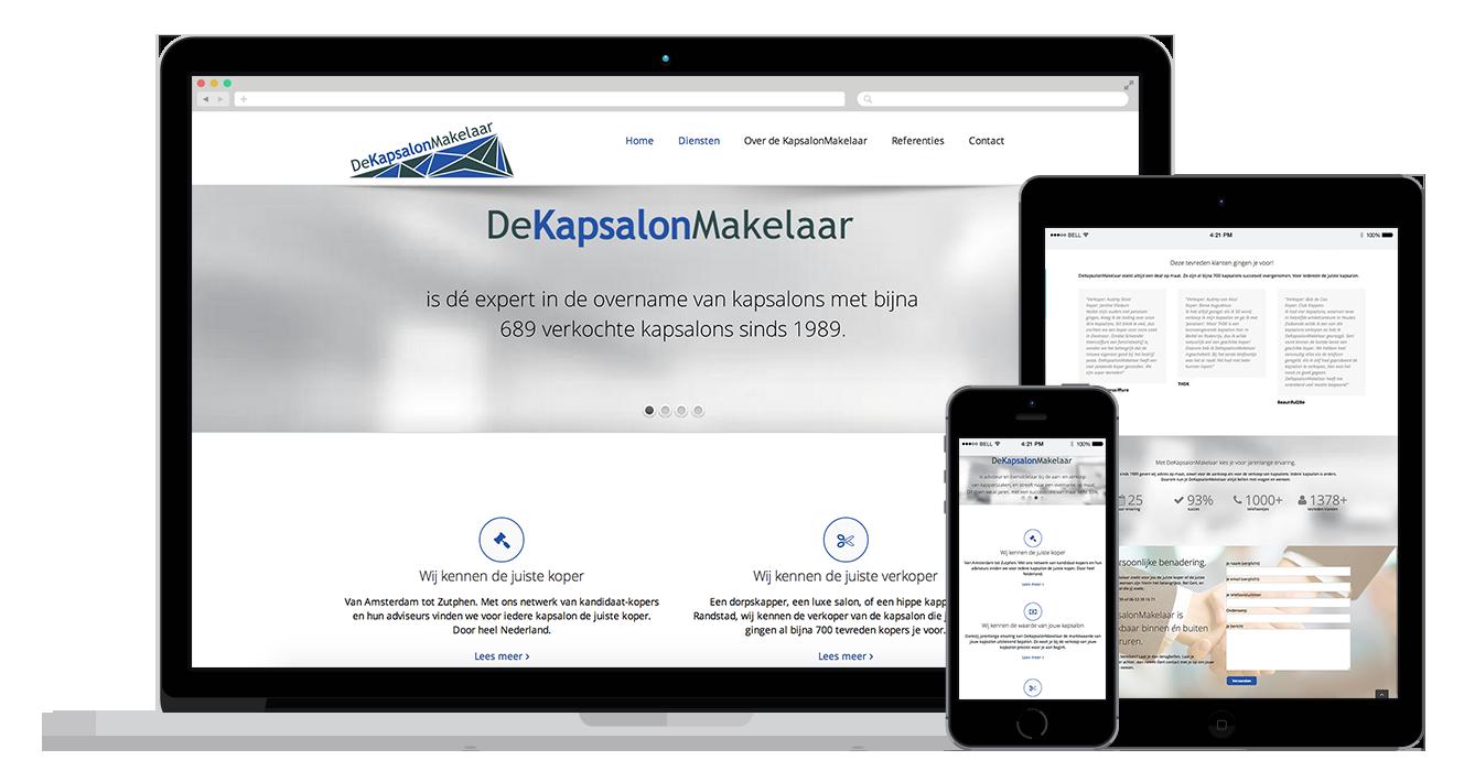 kapsalon website webdesign alkmaar amsterdam
