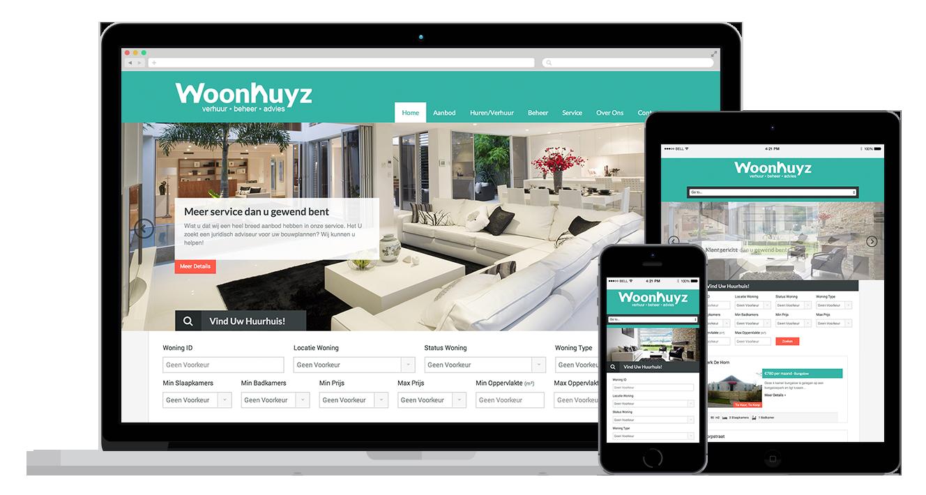 Woonhuyz Makelaar Woning website maken website alkmaar amsterdam
